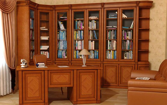Библиотеки мебель из массива дерева