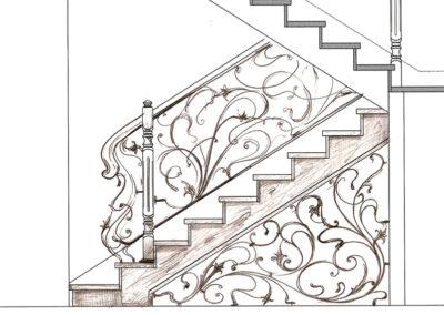 оформления 2 400x284 - Проектирование мебели, лестниц из массива дерева