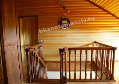 lestnica massiv 400x284 - Портфолио лестницы из массива