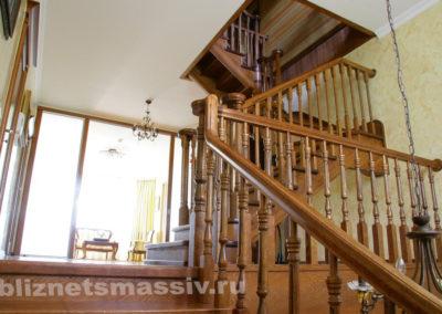 lestnica massiv1 400x284 - Портфолио лестницы из массива