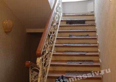lestnica massiv2 400x284 - Портфолио лестницы из массива